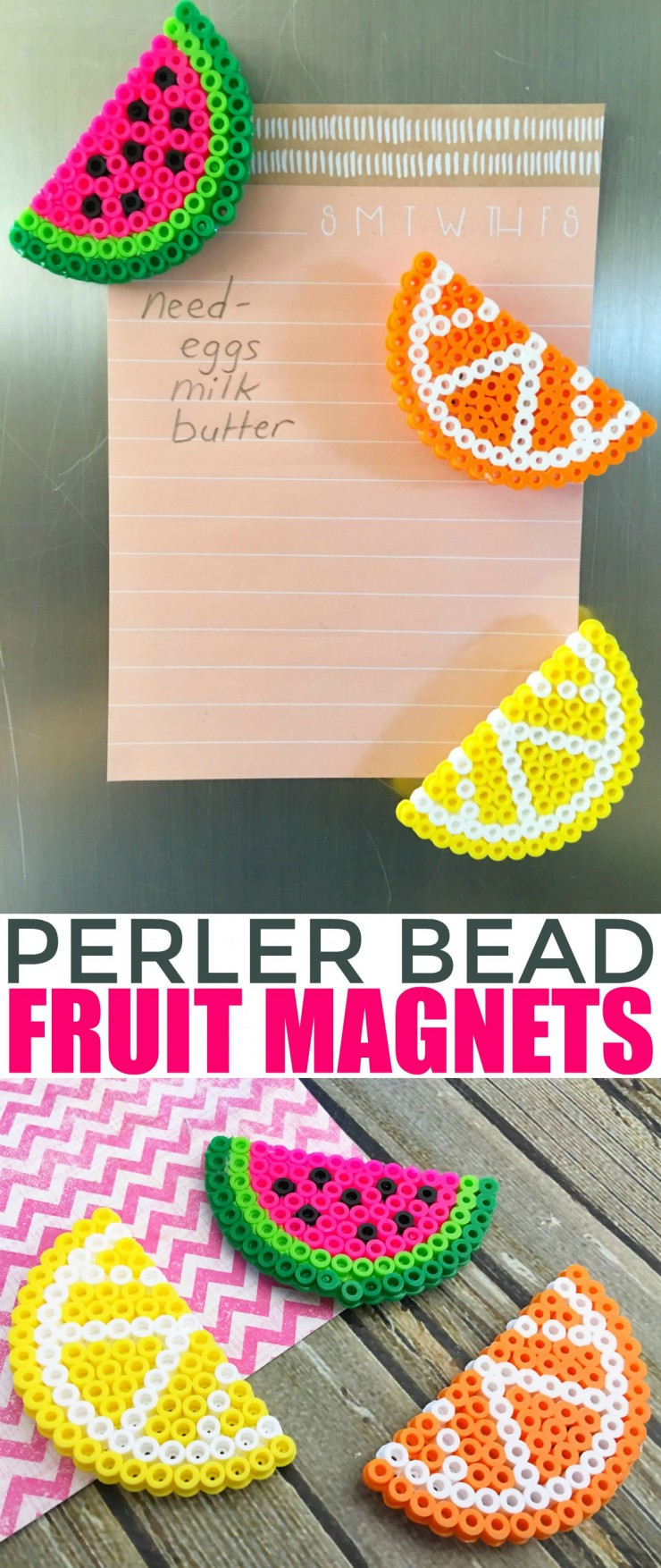 Fruit perler bead magnets frugal mom eh for Bead craft ideas for kids
