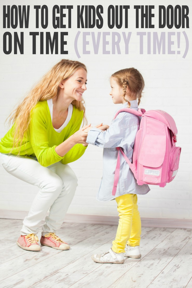 Check out these parenting tips for getting your kids out the door on time. Whether it's back to school or just running out for an early Dr appointment - never be late again!
