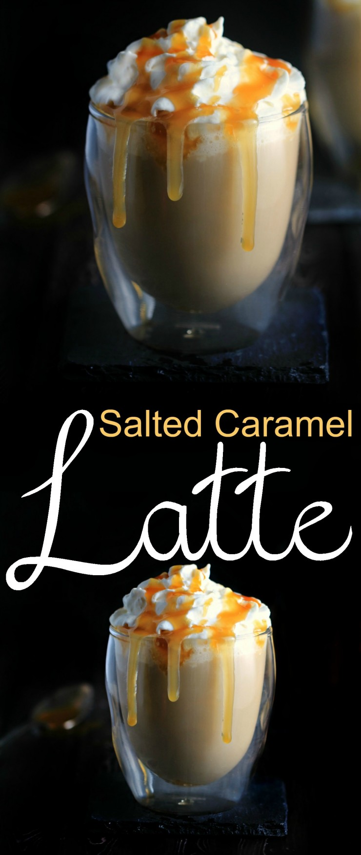 Salted Caramel is one of my favourite fall flavours and this Salted Caramel Latte is perfectly sweet with just the right touch of savoury.