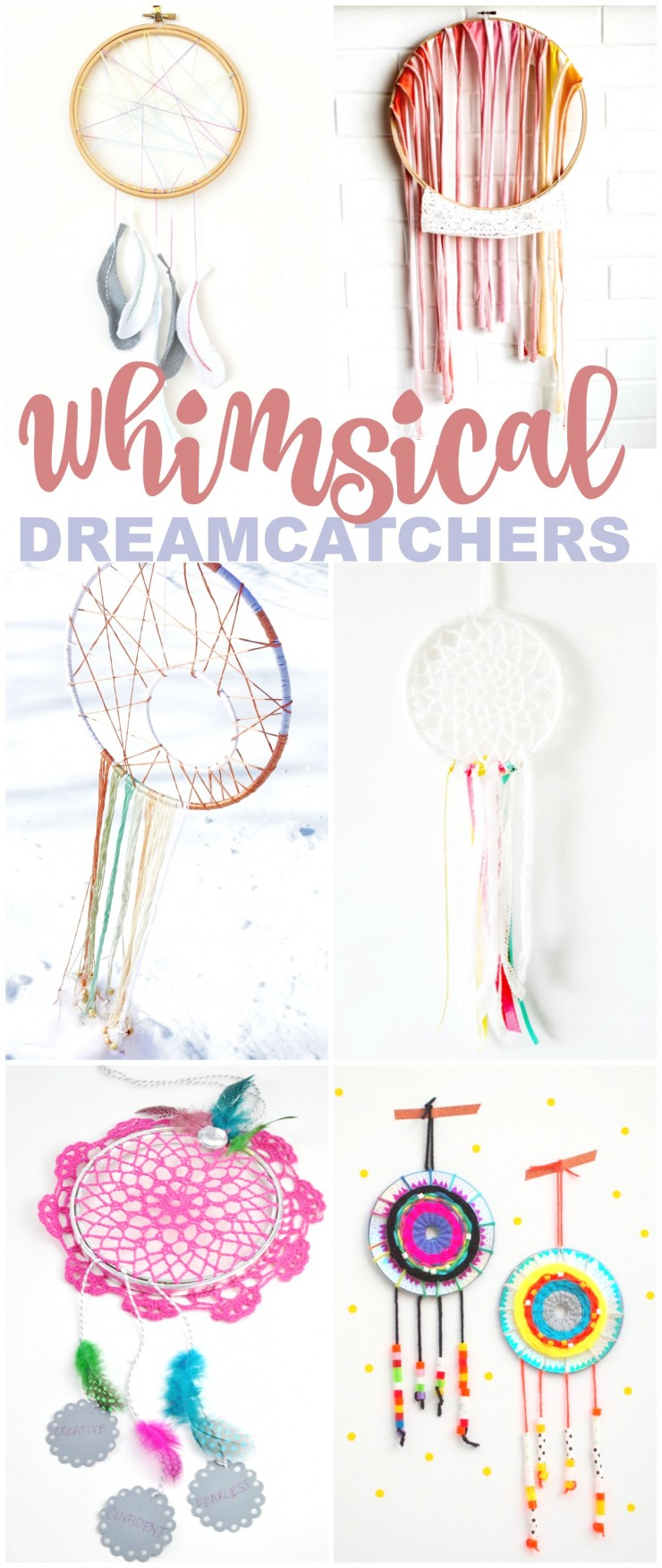 These 20 Whimsical DIY Dreamcatchers are gorgeous! They make for gorgeous wall décor or craft with kids to help them keep nightmares at bay.