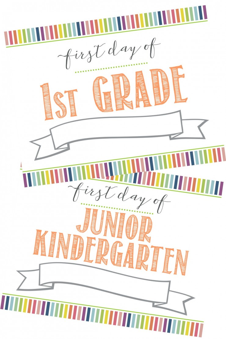 Free First Day of School Printable Sign Last Day of School – First Day of School Worksheet