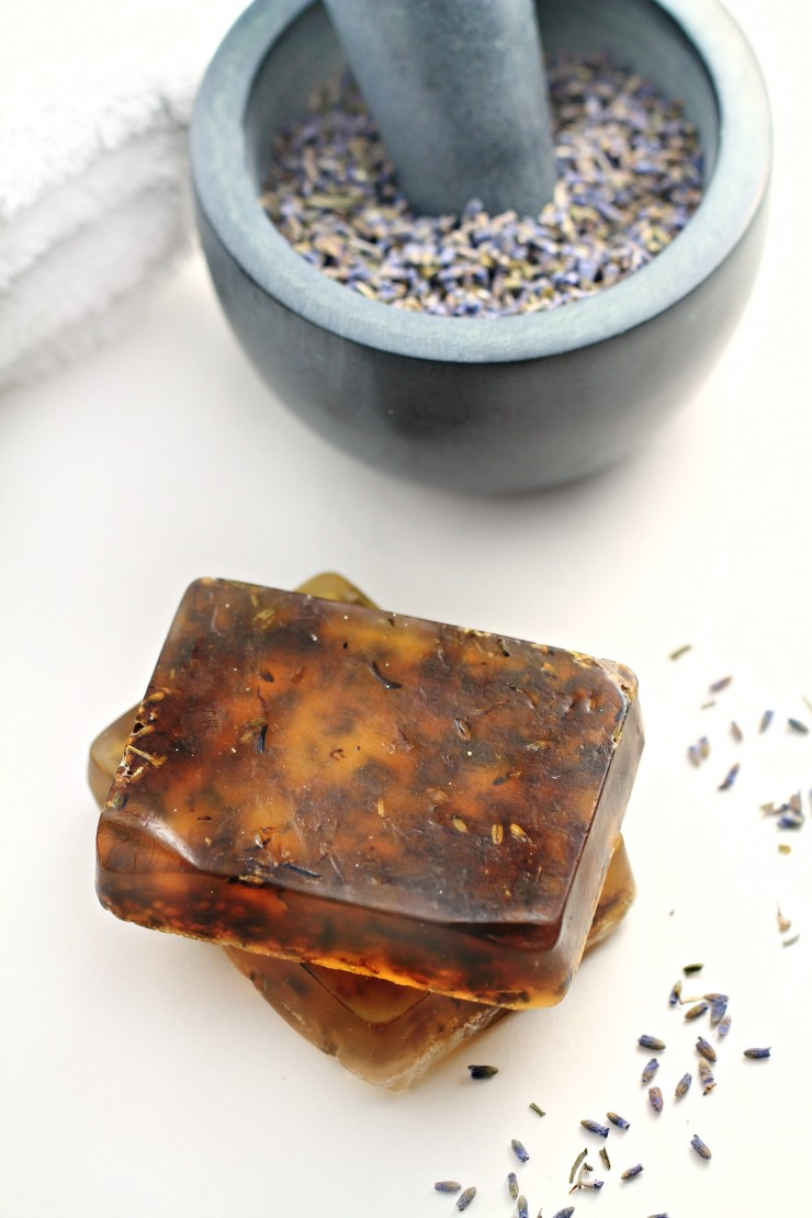 This lavender handmade soap is so simple to make and results in a lightly scented soap that is calming to use. You won't believe how simple soap-making can be!