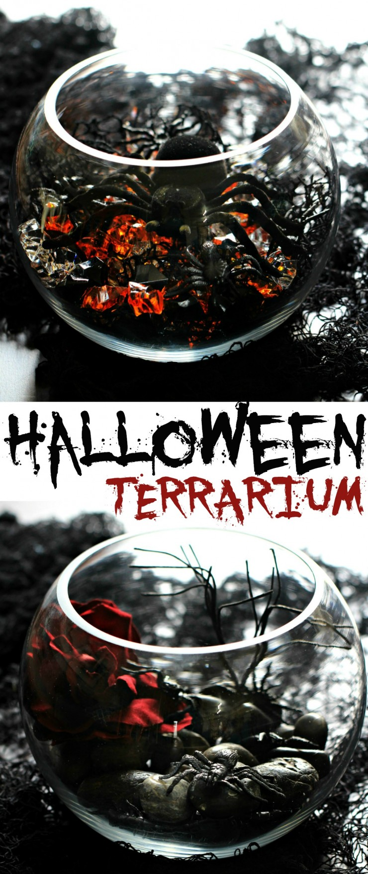This Halloween Terrarium is a spooky DIY project with endless possibilities for a uniquely creepy look to your Halloween Décor.