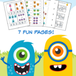 Monster Math Pack for Pre-K to 1st Grade