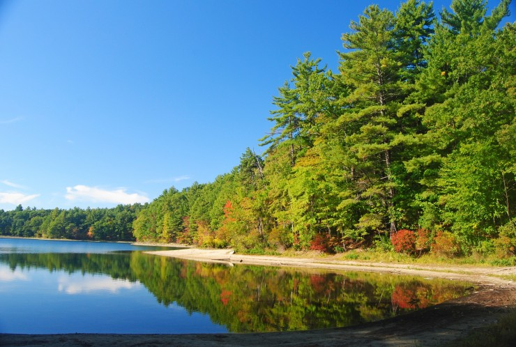 The Walden Pond near Concord, MA