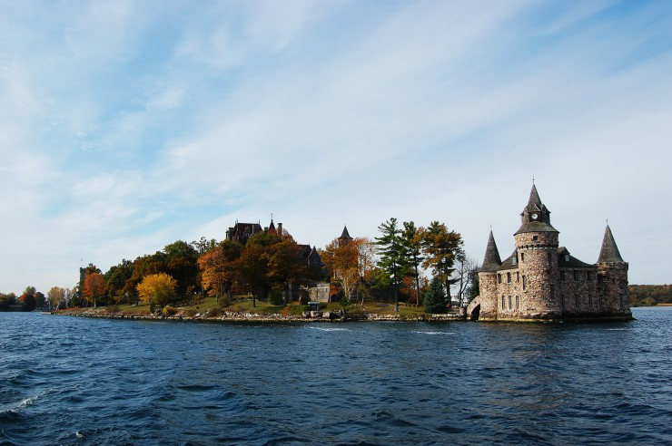 Boldt Castle in Thousand Islands, New York Boldt Castle and Power House on Heart Island in Thousand Islands area, New York State