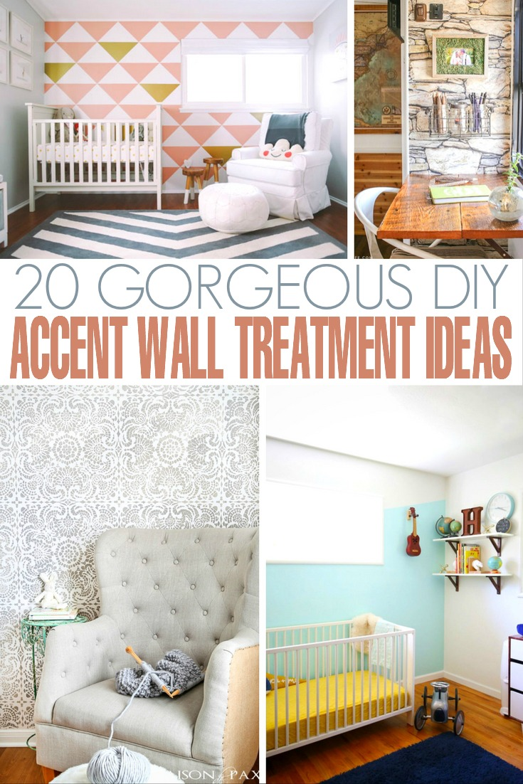 20 Gorgeous DIY Accent Wall Treatment Ideas to help you completely transform your room with a totally unique look.