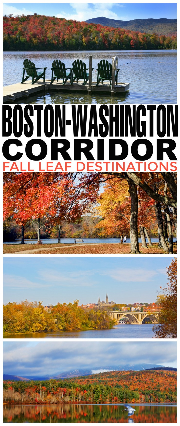 Fall Leaf Destinations in the Boston-Washington Corridor - Autumn is a great time for a family road trip down the American East Coast to take in some fabulous views as you travel between 3 great cities.