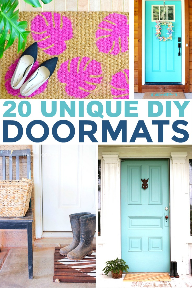 Give your home décor a fresh look with one of these unique DIY doormats.