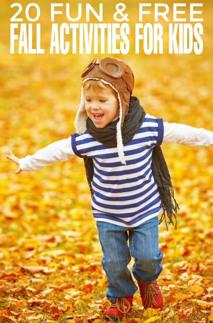 Fall is a perfect season to spend more time with our children - be inspired by this list of 20 fun and free Fall Activities for Kids!