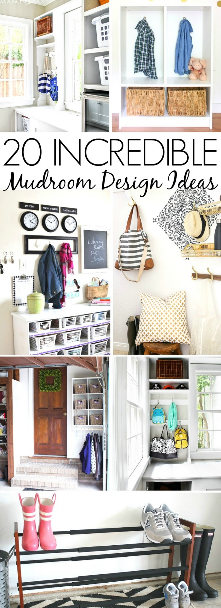 These 20 Incredible Mudroom Design Ideas will inspire you to create your own beautiful and organized entry space. Great home organization and home decor ideas here!