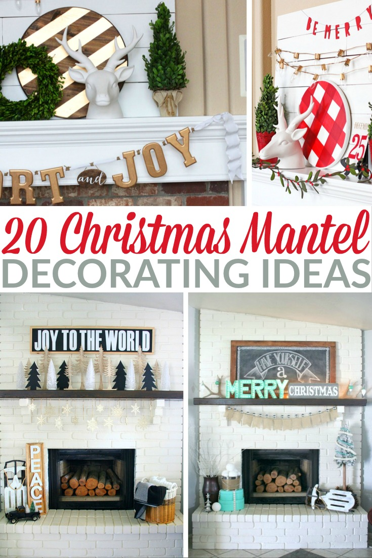 20 Christmas Mantel Decorating Ideas - Frugal Mom Eh!
