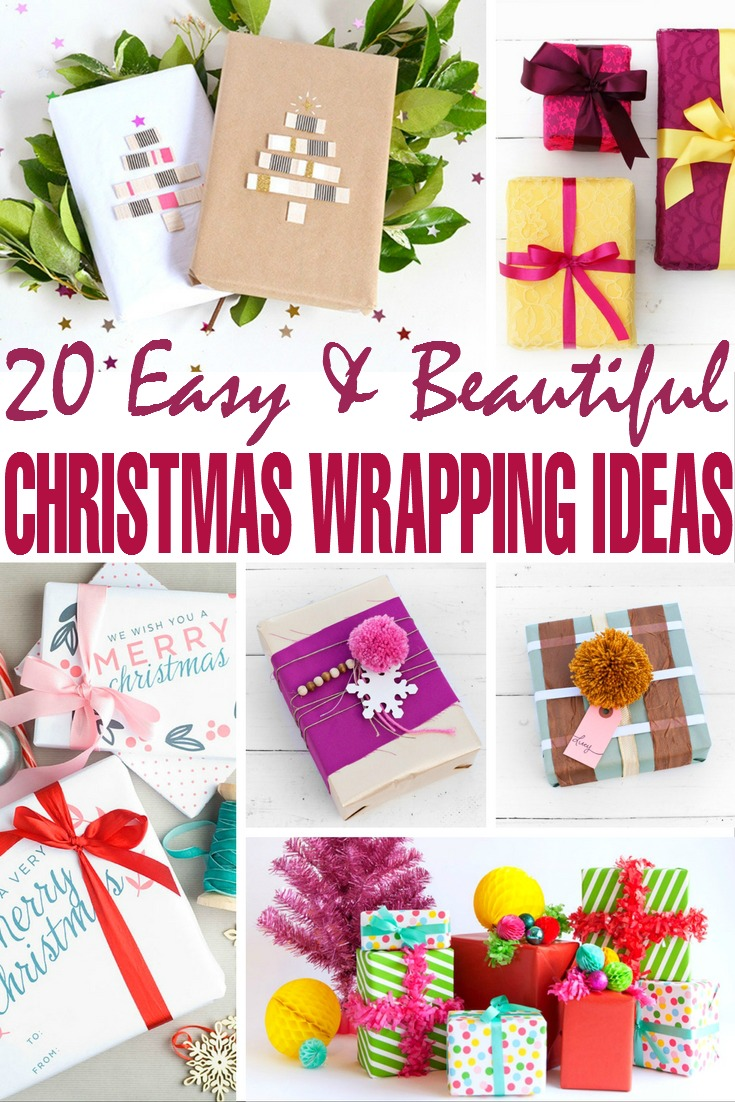 20 Easy & Beautiful Christmas Gift Wrapping Ideas - Frugal Mom Eh!
