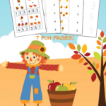 Fall Math Worksheets for Pre-K to 1st Grade