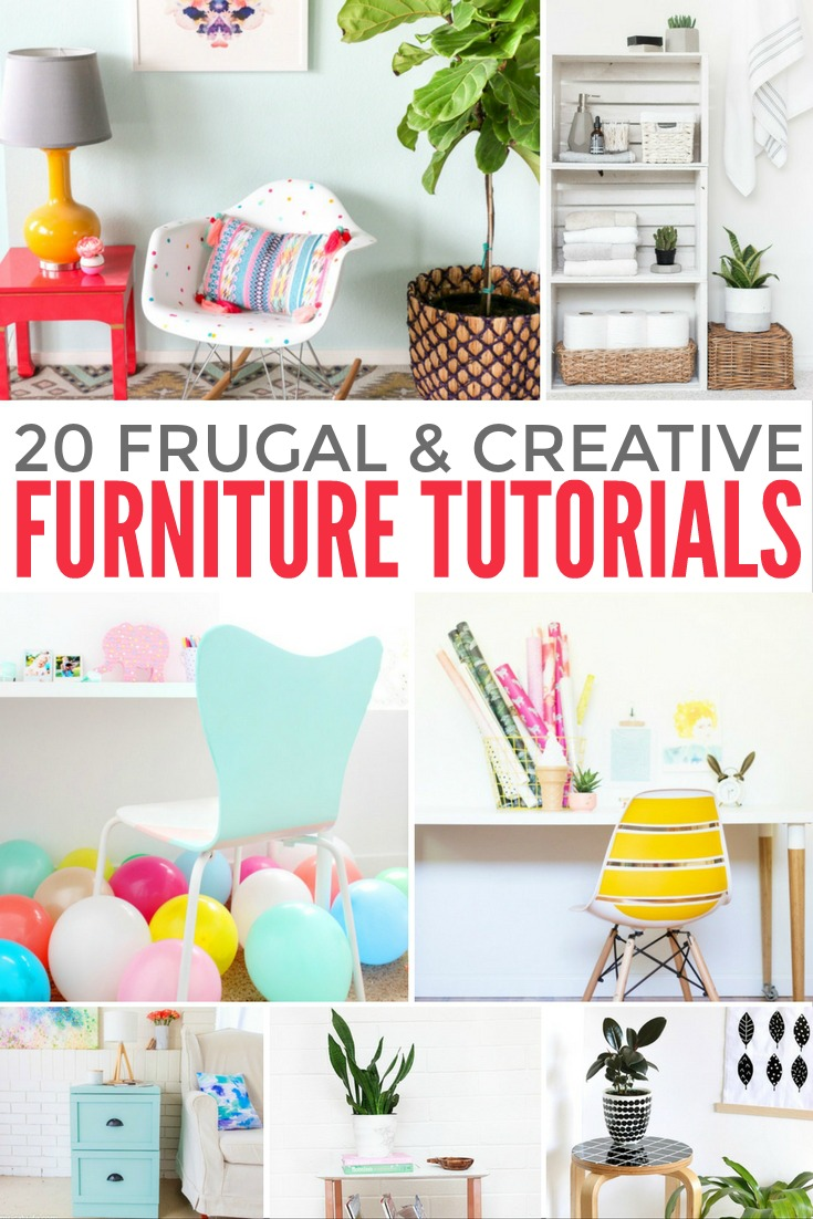 Create wonderful décor and save money at the same time with this selection of 20 Cheap, Easy and Creative Furniture Tutorials.