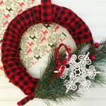 Plaid Christmas Wreath