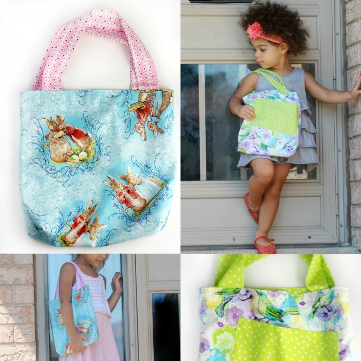 Simple Kids Tote Bag Sewing Tutorial.