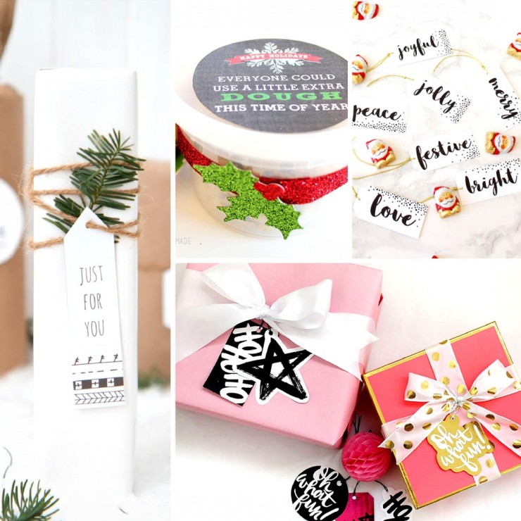 20 Sets of Free Printable Christmas Gift Tags