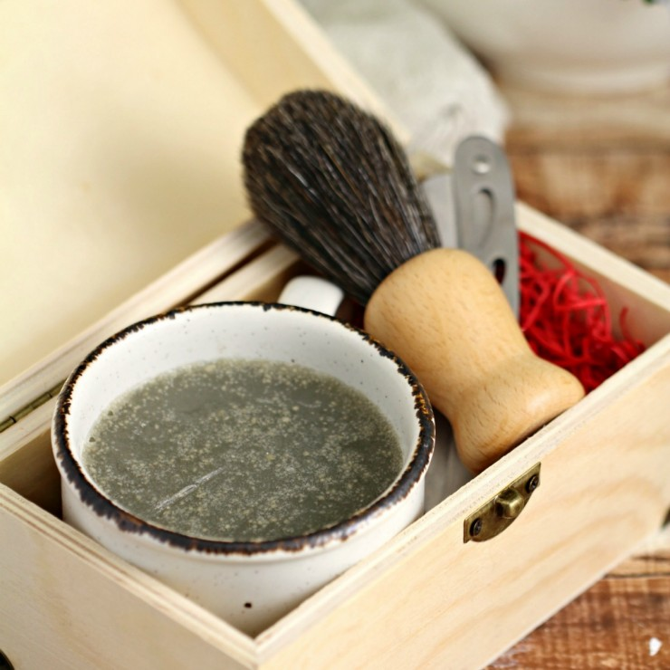Homemade Invigorating Men's Shaving Soap