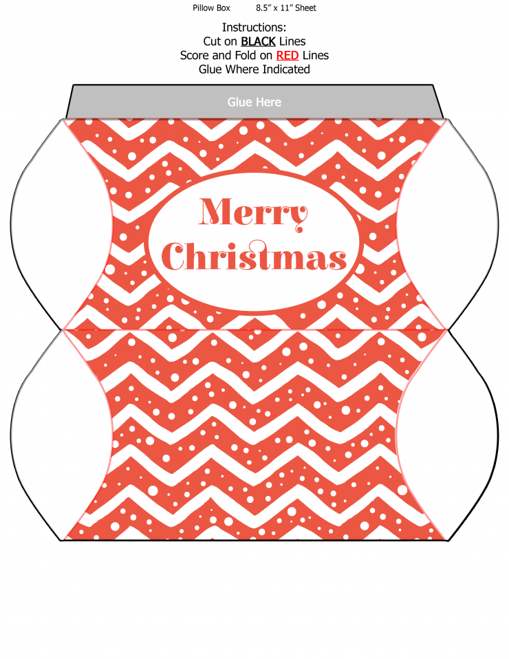 These three Free Printable Christmas Pillow box templates are a pretty way to wrap up small gifts and stocking stuffers!