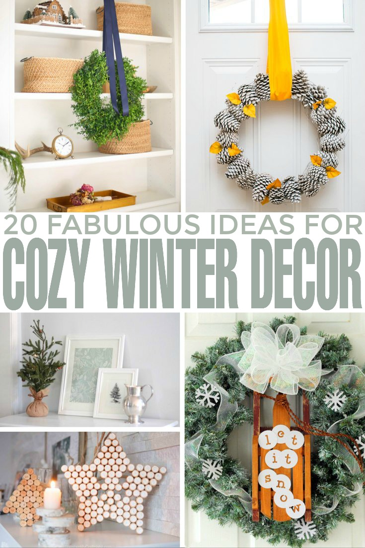 From beautiful centrepieces and creative mantels to unique wreaths and even winter planters, I'm sure these fabulous ideas for cozy winter décor will make the winter season both merry and bright.