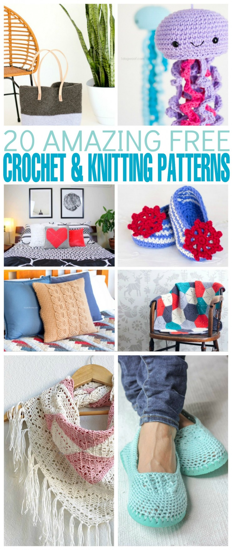 I put together a list of 20 amazing free crochet and knitting patterns you can use to create unique gifts for the most special people in your life.