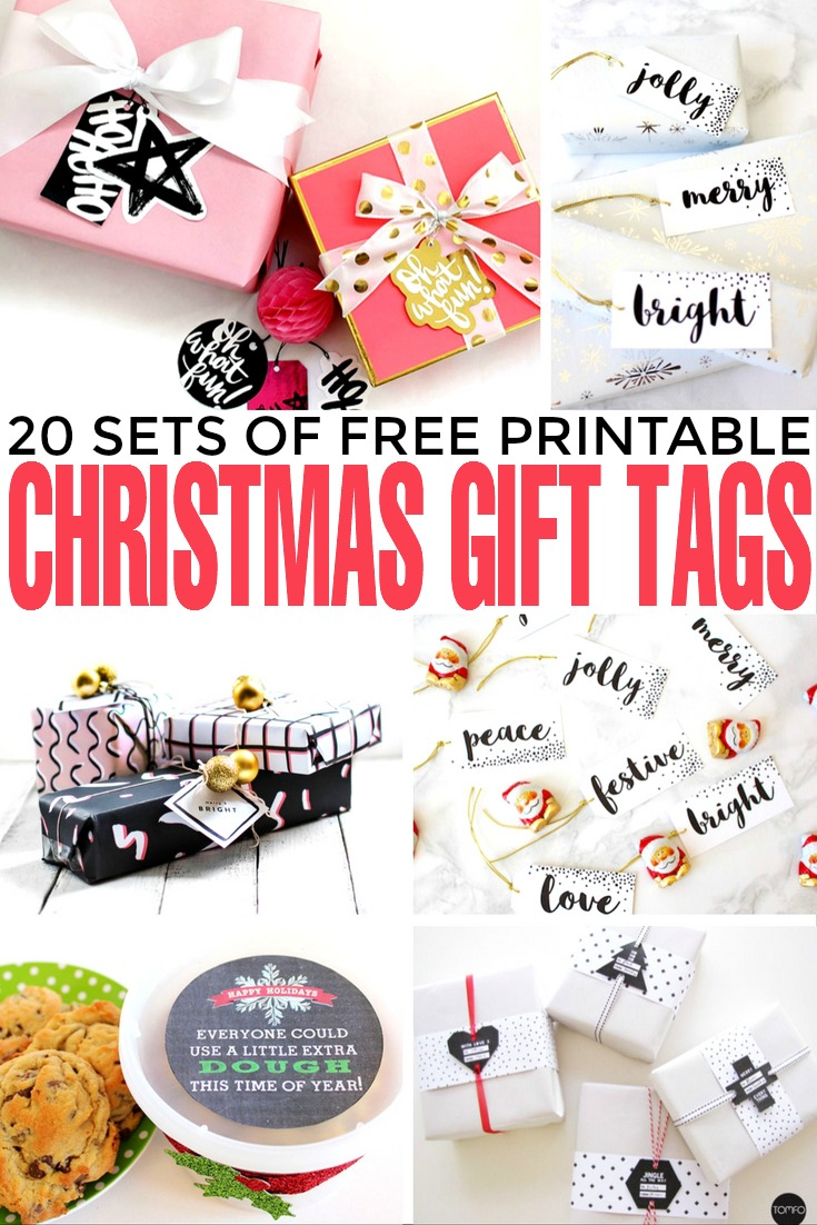 graphic regarding Printable Christmas Gifts identified as 20 Sets of Free of charge Printable Xmas Reward Tags - Frugal Mother Eh!
