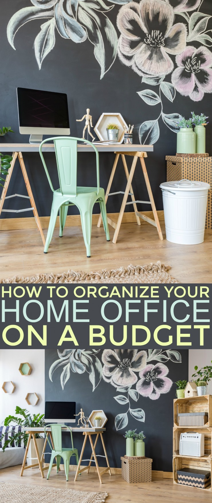 If you want to organize your home office and keep it organized, these tips to help you Organize Your Home Office on a Budget will help!