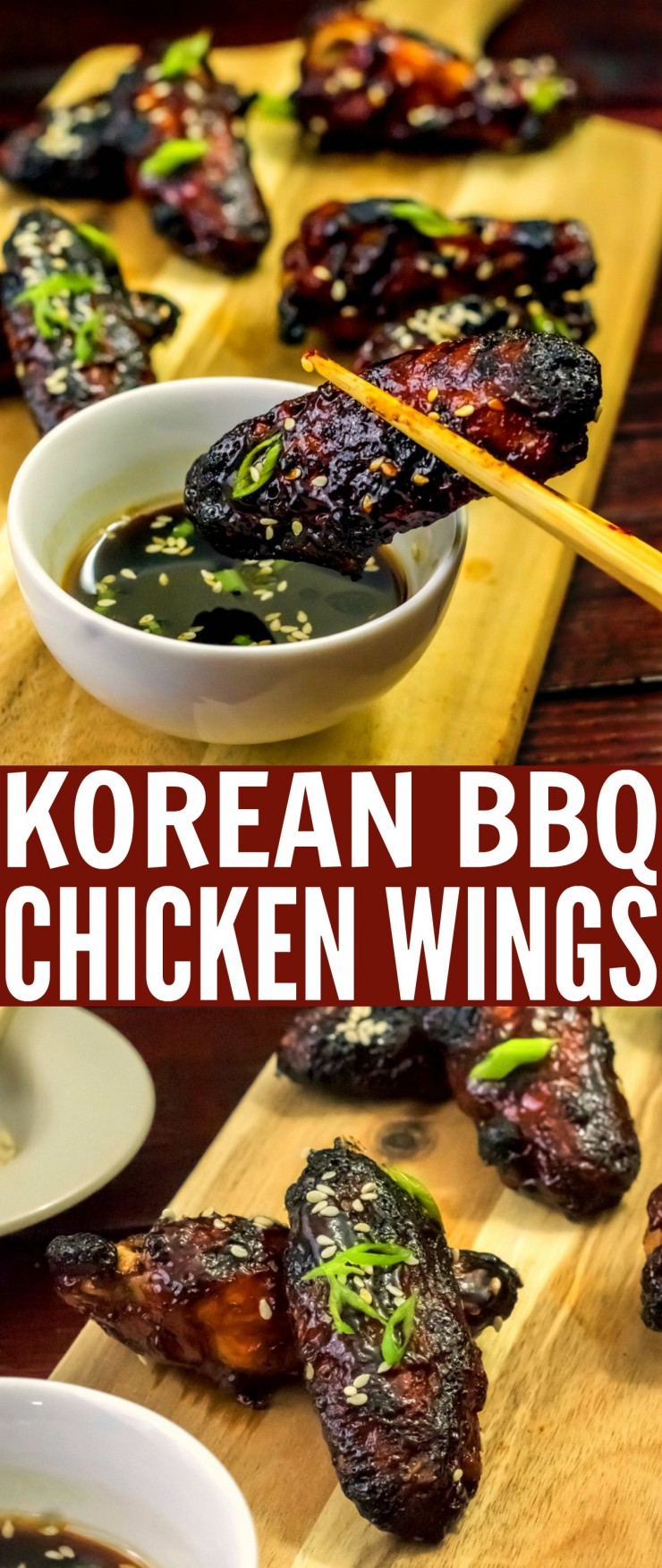 Spicy and flavourful, these Korean Barbecue Chicken Wings make a great choice for an appetizer. So much more than your typical wings, these Korean inspired baked chicken wings have a complex flavour profile that is addictive.