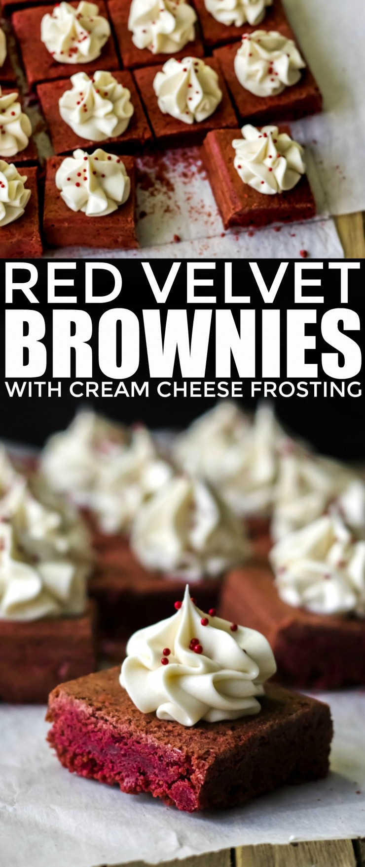 These Red Velvet Brownies with Cream Cheese Frosting combine the flavours of red velvet cake with a brownie to create an incredible brownie topped with a delectable cream cheese frosting.