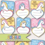 Free Printable Unicorn Valentine's Day Cards