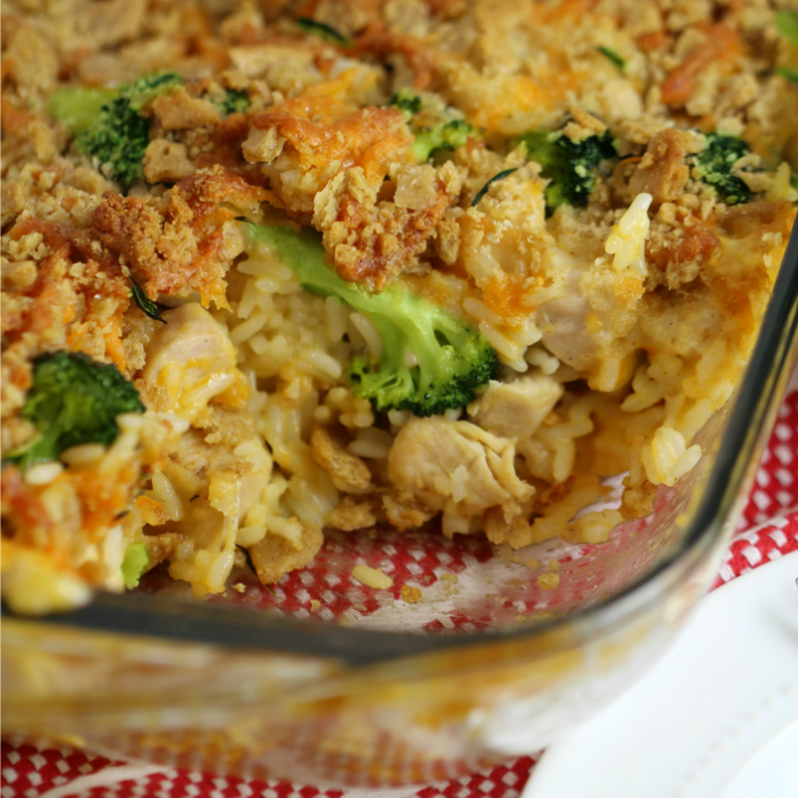 Chicken Divan Casserole with a Cheesy Oat Topping