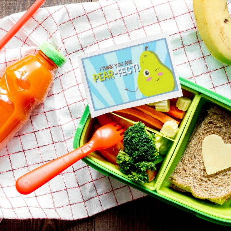 Printable Fruit Lunch Box Notes