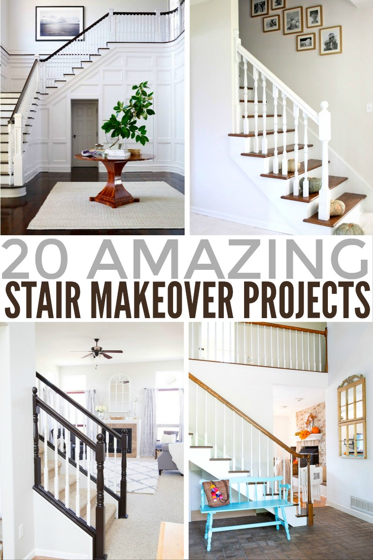 20 amazing stair makeover projects frugal mom eh