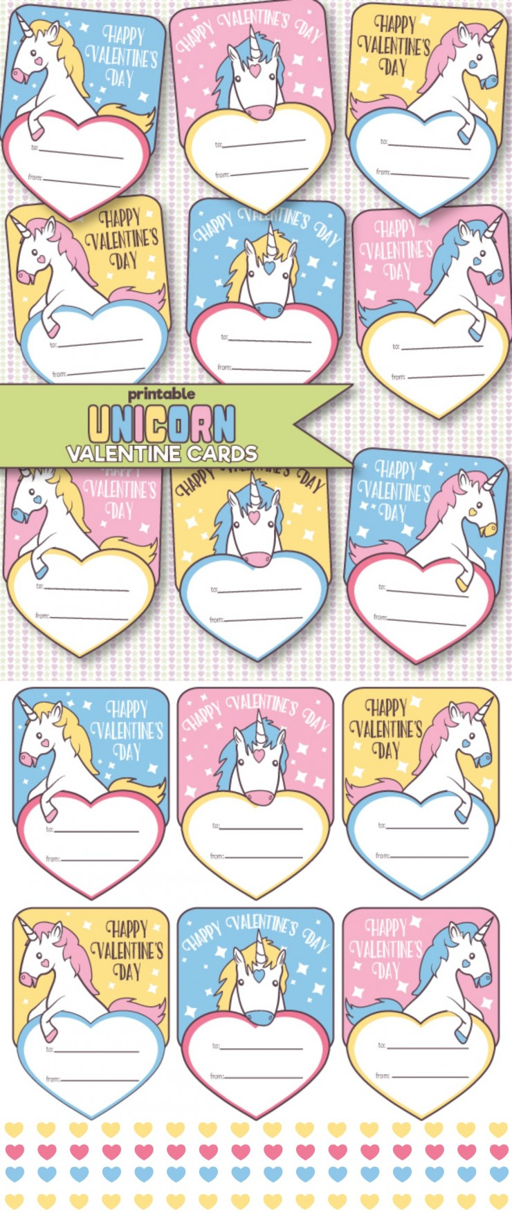 Free Printable Unicorn Valentine S Day Cards Frugal Mom Eh