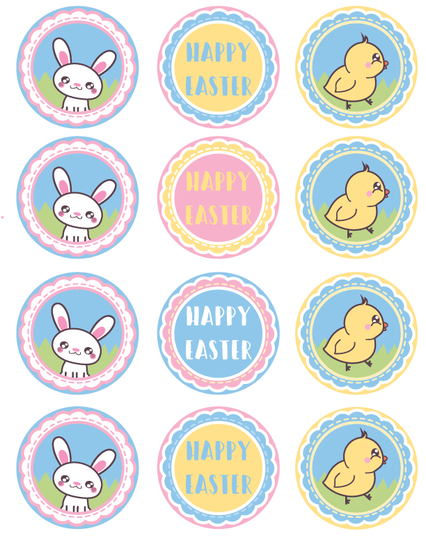 photo relating to Printable Cupcakes Toppers known as Absolutely free Printable Easter Cupcake Toppers - Frugal Mother Eh!