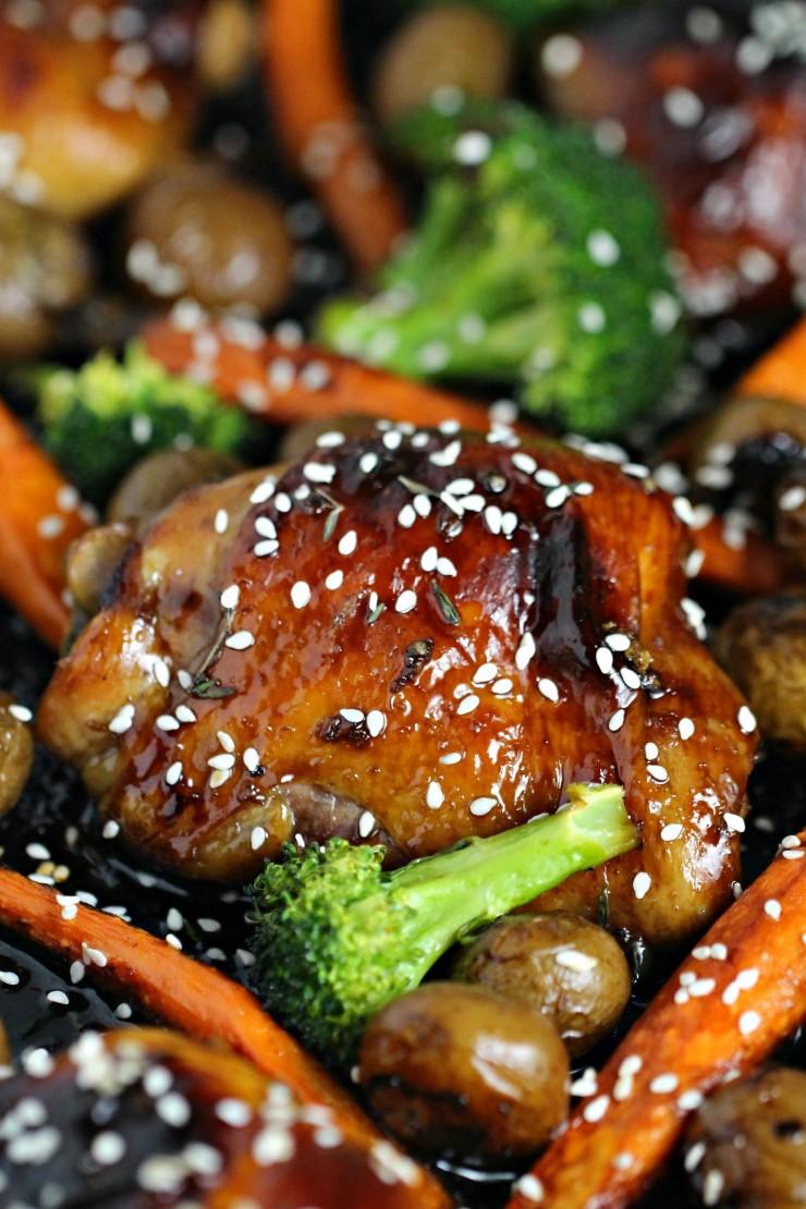 Honey Garlic Chicken Sheet Pan Meal Frugal Mom Eh