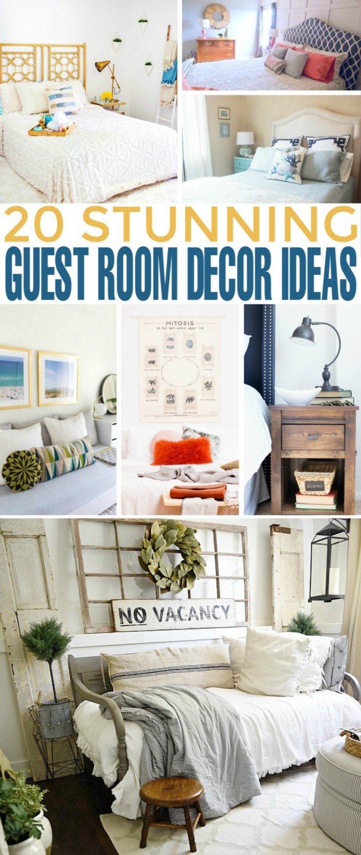 If you ever considered redecorating your guest room, I have some inspirational posts to get you started. These wonderful bloggers have come up with creative guest room decor ideas which are also budget-friendly. So as long as you're willing to put in some effort you will end up having an awe-inspiring guest room in no time!