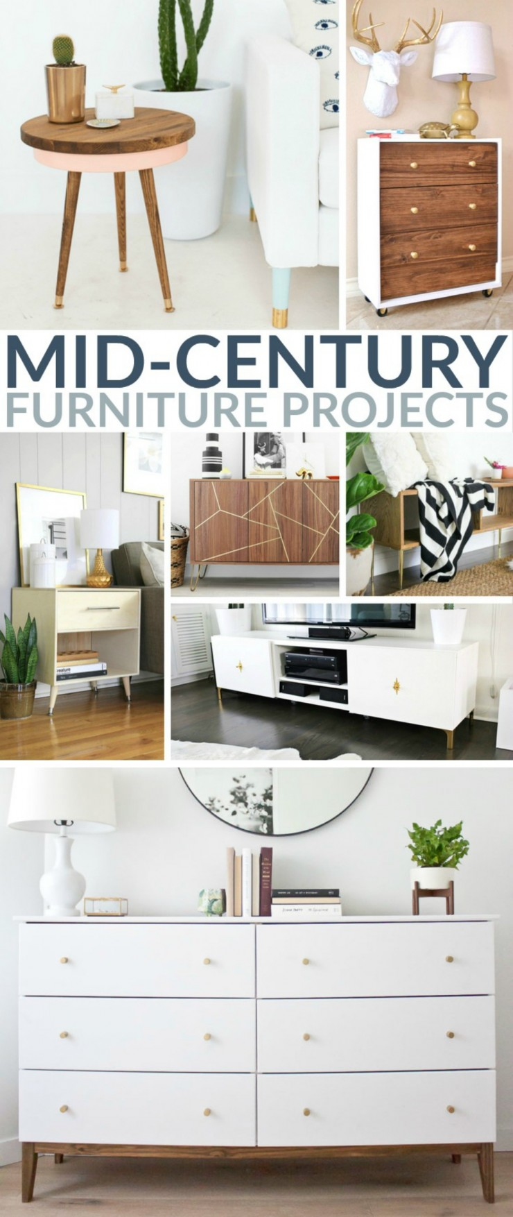 DIY Mid-Century furniture. So you want a Mid Century chair? No problem! Or maybe a dresser? Totally doable. If you're still having doubts, take a look at these awesome Mid-Century furniture projects