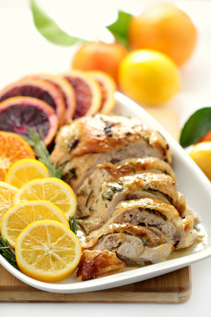 Citrus & Rosemary Roasted Turkey Breast - Frugal Mom Eh!