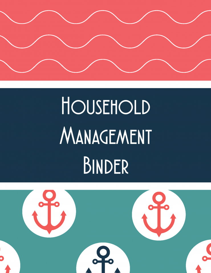 These Marine Themed Household Management Binder Printable Sheets are a super cute way to keep it all organised from grocery lists, to an auto maintenance log. This binder will be sure to help keep your family on track.