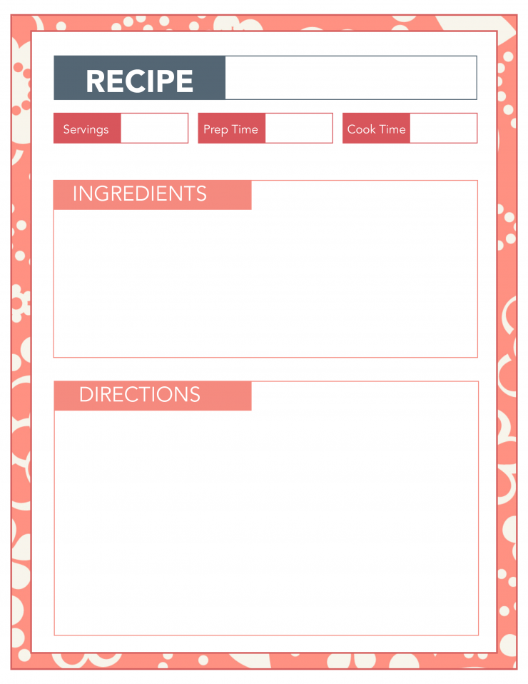 graphic about Printable Recipe Pages known as Household Favourites Recipe Binder Printable Sheets - Frugal