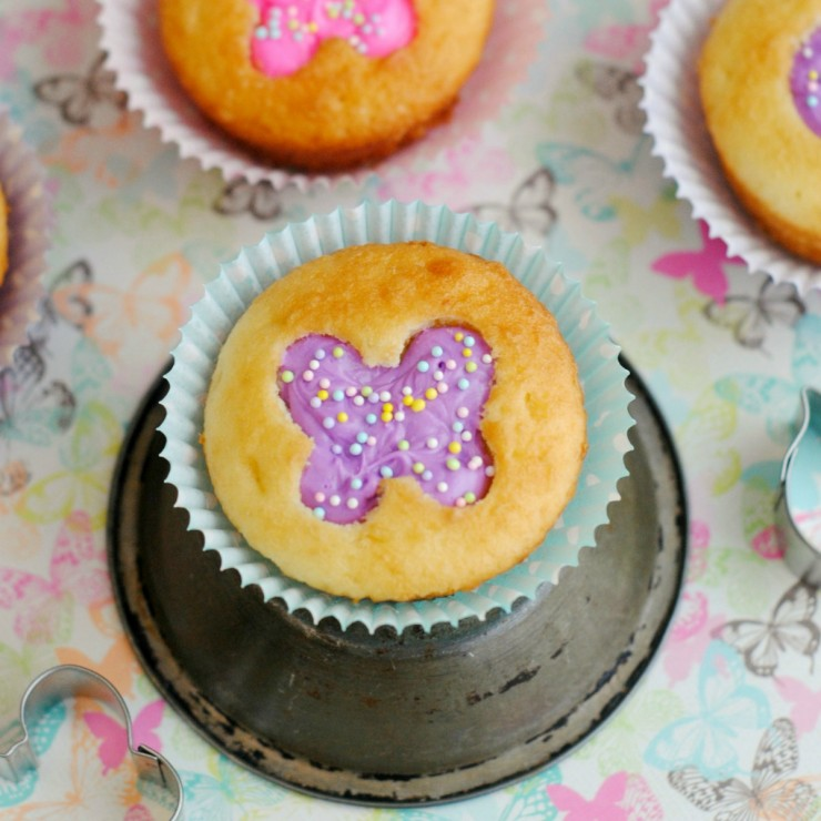Butterfly Cut-Out Cupcakes