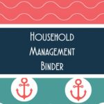 Marine Themed Household Management Binder Printable Sheets