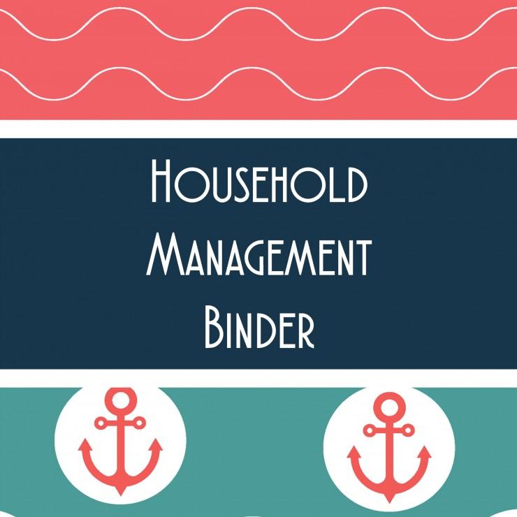 Marine Themed Household Management Binder Printable Sheets