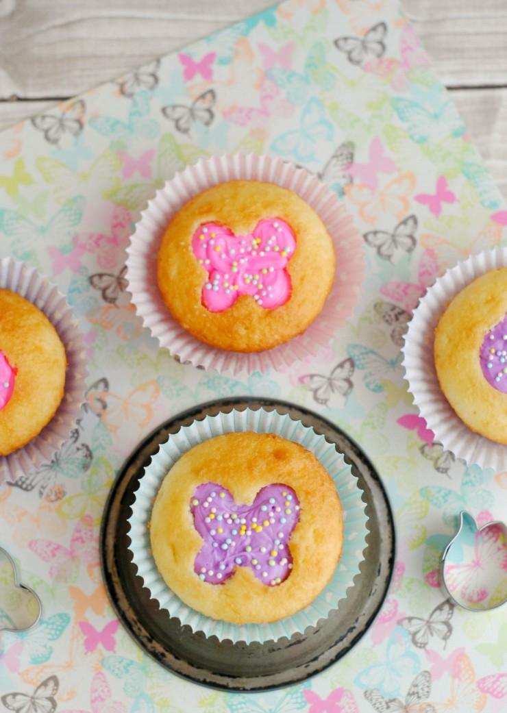 These butterfly cut-out cupcakes are a super sweet dessert idea for Easter. These butterfly cupcakes just scream spring, don't you think?