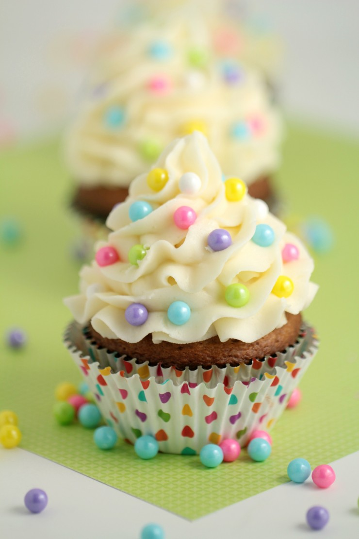 These classic Carrot Cupcakes with Cream Cheese Frosting are moist (sorry!) and flavourful. The frosting is rich and delicious. These cupcakes are great for Easter, Baby Showers and even non-occasions too.