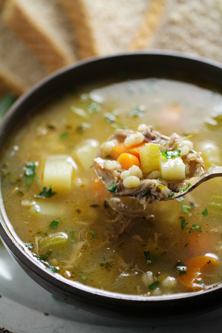 There's nothing better than a hearty bowl of Scotch broth. Delicious, traditional Scotch broth is the best for using up leftover lamb and getting the most out of your lamb roast.  This is a family recipe so everything is from scratch. Bones and all are simmered for hours to make a stock full of flavour.