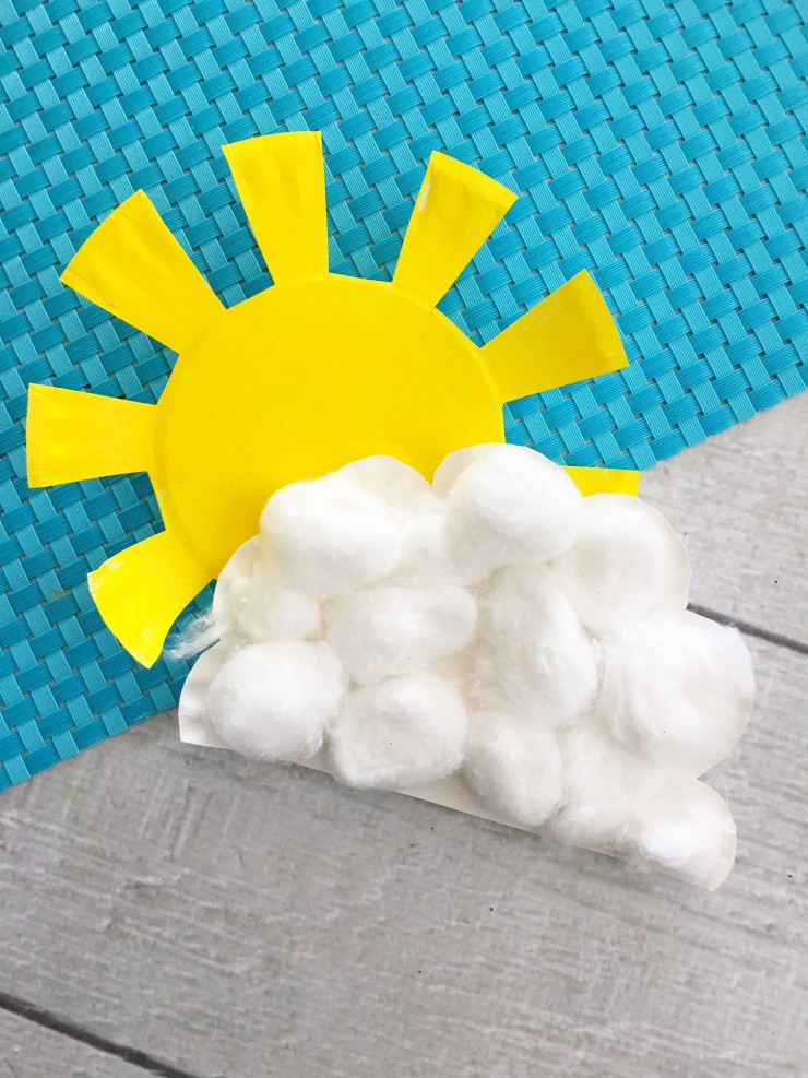 This Sunshine and Cloud Paper Plate Craft is a fun craft for kids. Make your  sc 1 st  Frugal Mom Eh! & Sunshine and Cloud Paper Plate Craft - Frugal Mom Eh!