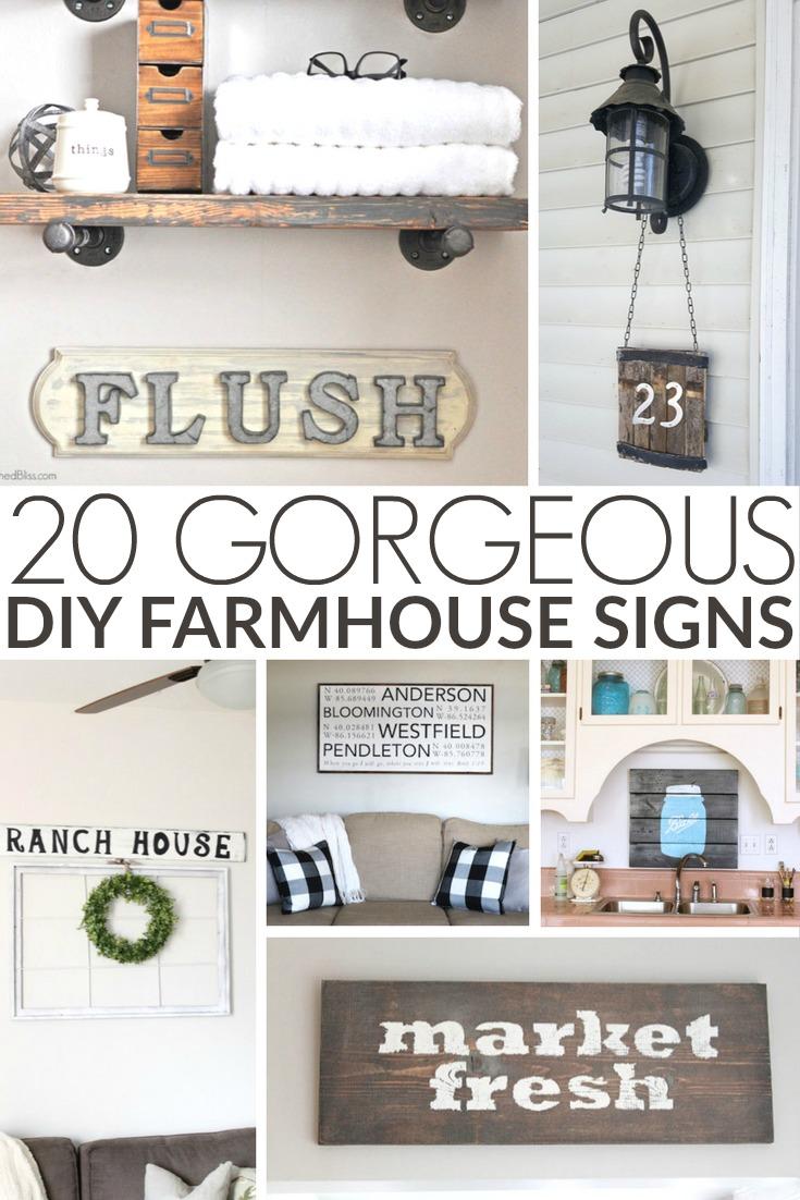 20 Gorgeous Diy Farmhouse Signs Frugal Mom Eh
